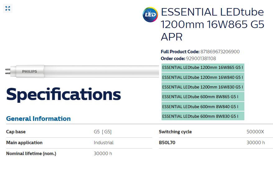 Đèn G5 I APR Essential Philips sử dụng chất liệu cao cấp và thiết kế bắt mắt