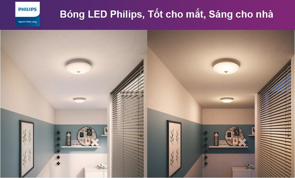Đèn led ốp trần cảm ứng Philips 62233