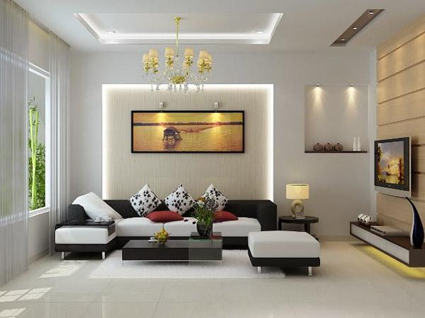 Đèn spotlight chiếu điểm phòng khách