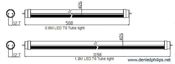 cấu tạo của đèn led tuýp T8 Philips