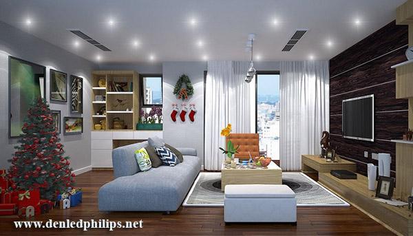 Đèn LED âm trần trang trí phòng khách