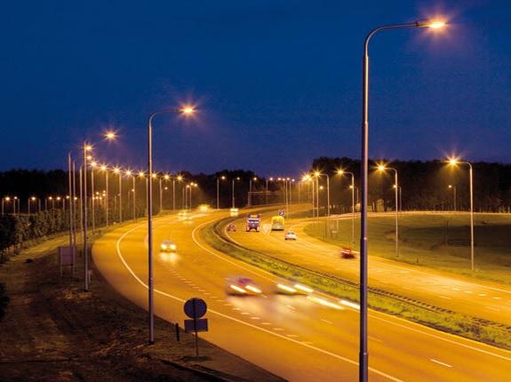 đèn đường phố chiếu sáng