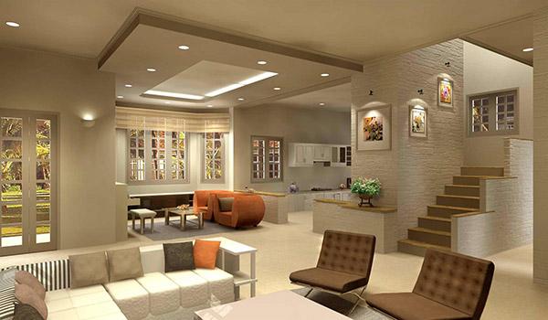 Đèn LED âm trần cho phòng khách sang trọng