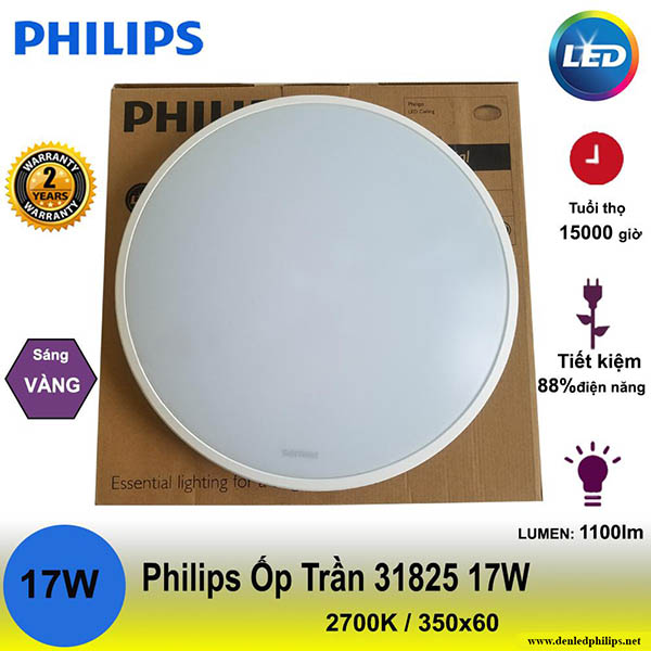 Những ưu điểm đèn ốp trần 31825 Twirly 17W Philips