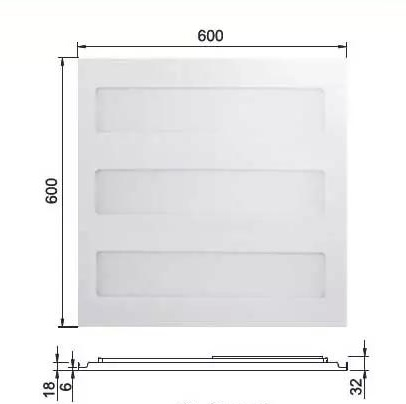 Đèn led panel RC098V 26W 600x600