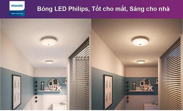 Ưu điểm khi sử dụng đèn ốp trần 62234 cảm biến 16W Philips