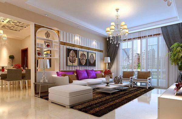 LED trang trí phòng khách