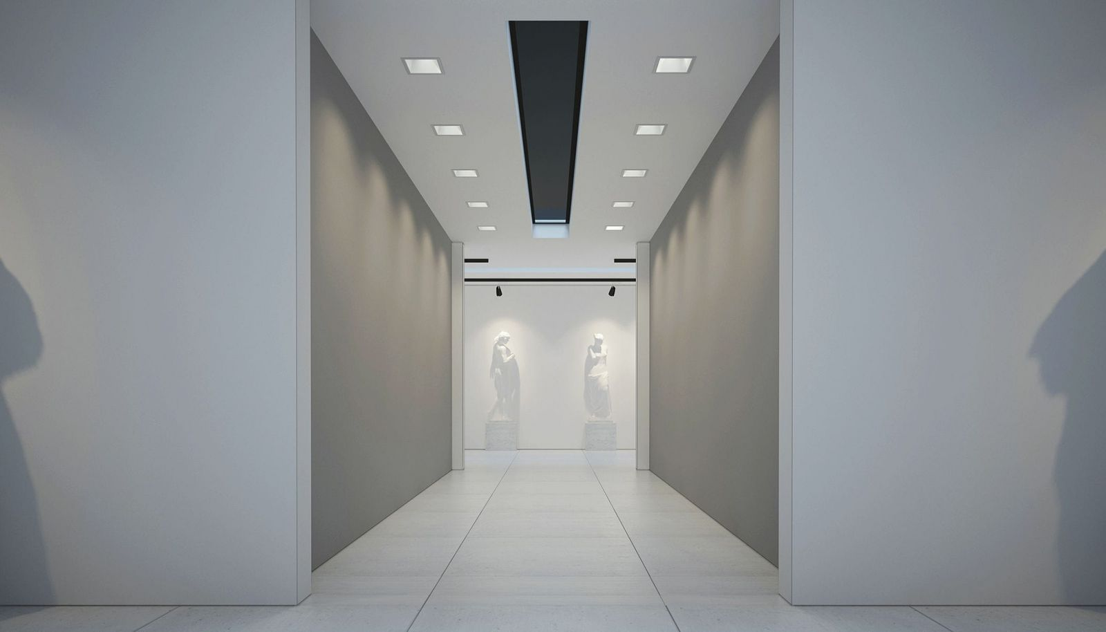 Đèn âm trần vuông cho trung tâm thương mại