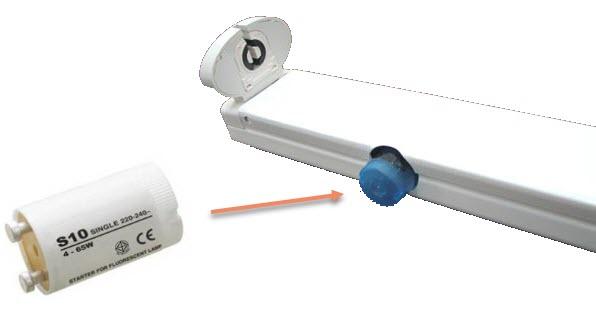 Đối với máng đèn tuýp led 1m2 có sẵn trong gia đình trước đó đã dùng đèn huỳnh quang.